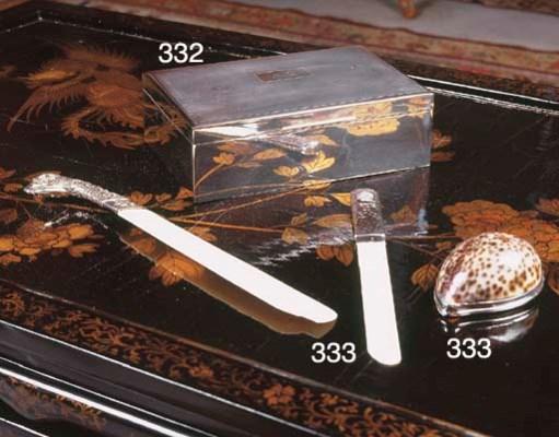 A SILVER CIGAR-BOX
