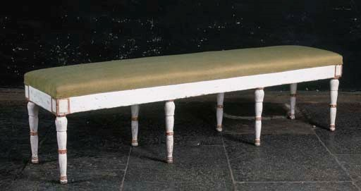 A RESTAURATION WHITE-PAINTED A