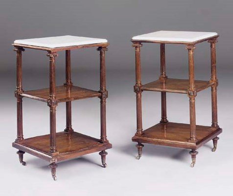 A PAIR OF FRENCH ROSEWOOD ETAG