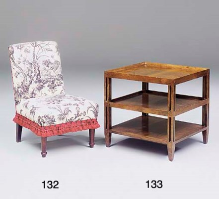 A STAINED-BEECH NURSING CHAIR