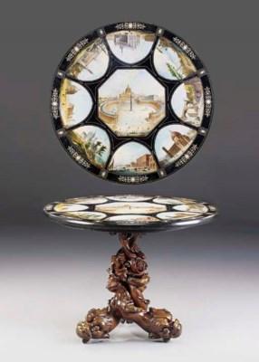 A fine Italian scagliola table