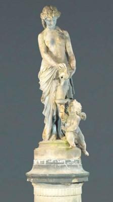 A rare French cast-iron figura