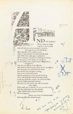 POUND, Ezra. A Draft of the Ca