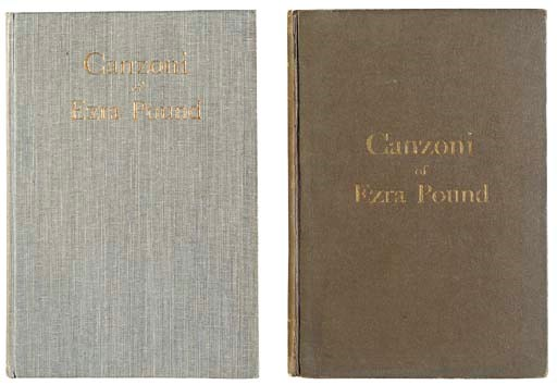 POUND, Ezra. Canzoni. London: