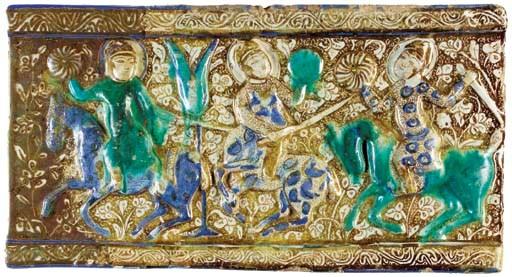 A KASHAN LUSTRE COBALT-BLUE AN