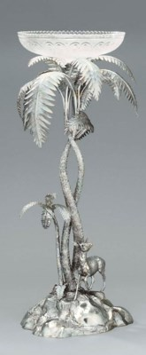 A Victorian silver and glass c