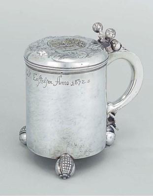 A Norwegian silver tankard