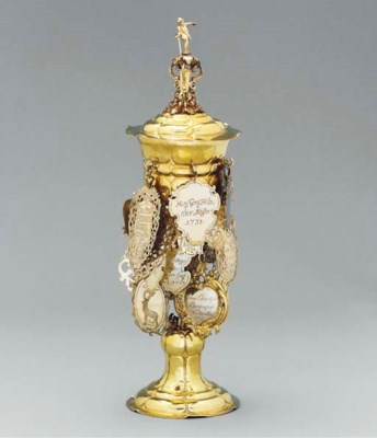 A German silver-gilt Inn-keepe