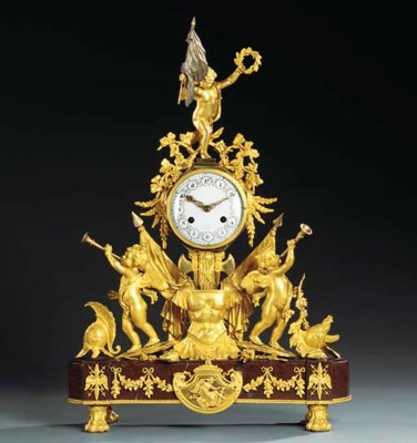 A LOUIS XVI ORMOLU AND RED GRI