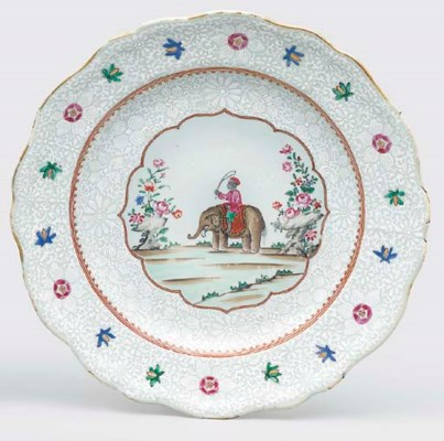 A FAMILLE ROSE PLATE FOR THE I