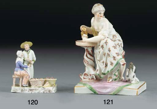 A Ludwigsburg miniature group