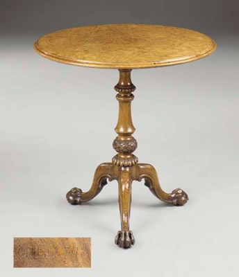 A MID-VICTORIAN BROWN OAK AND