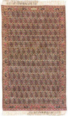 A PAIR OF FINELY WOVEN KIRMAN