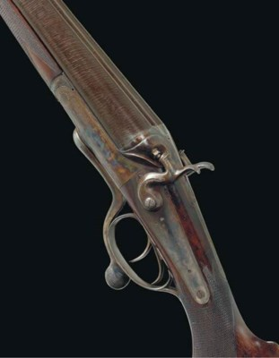 A FINE 10-BORE HAMMER GUN BY J