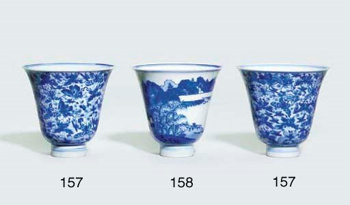 A BLUE AND WHITE DEEP BELL-SHA
