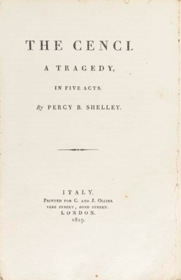SHELLEY, Percy Bysshe (1792-18