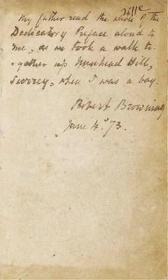 BROWNING, Robert (1812-1889) -