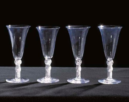 FOUR GOBLETS WITH TALL BELL-SH