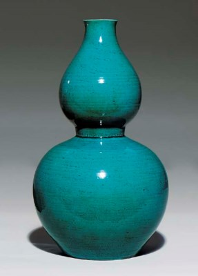 A TURQUOISE-GLAZED DOUBLE-GOUR