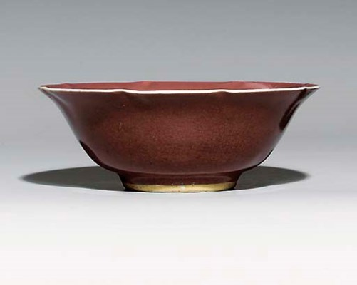A LANGYAO-TYPE FOLIATE BOWL