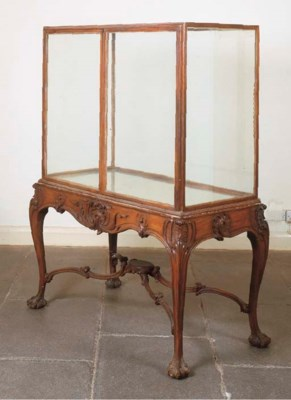 A VICTORIAN STAINED WALNUT DIS