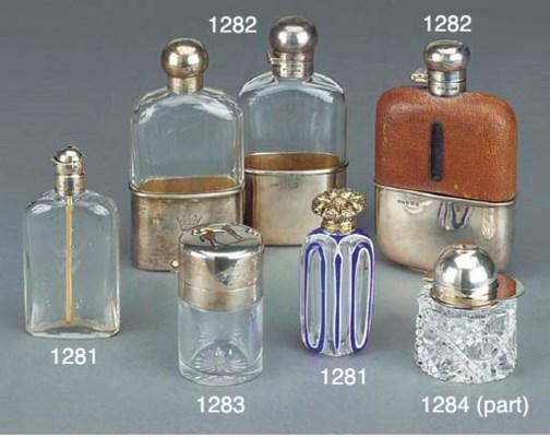 A VICTORIAN SILVER-CAPPED GLAS