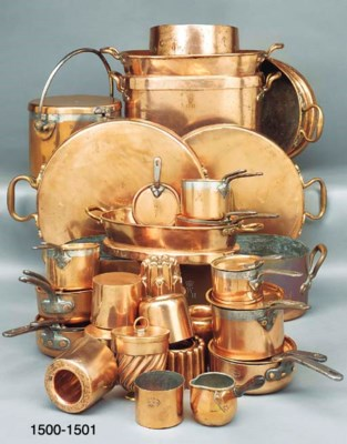 A COLLECTION OF COPPER AND BRA