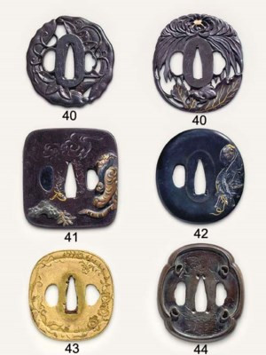 An iron TSUBA and another