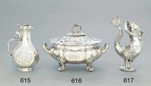 A Victorian silver claret-jug