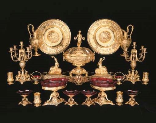 A Victorian silver-gilt twenty