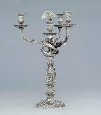 A George III silver four-light