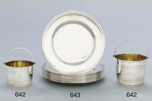 A set of twelve George II silv
