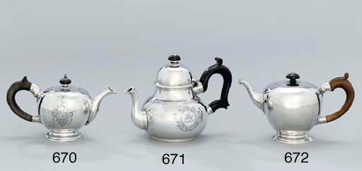 A George II silver teapot