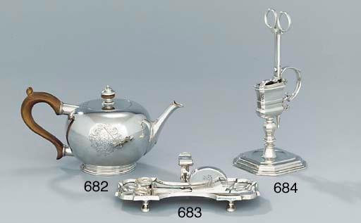 A pair of George II silver snu