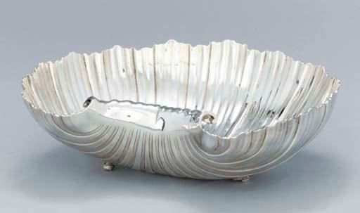 A George II silver shaving-dis