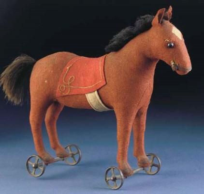 An early Steiff horse on wheel