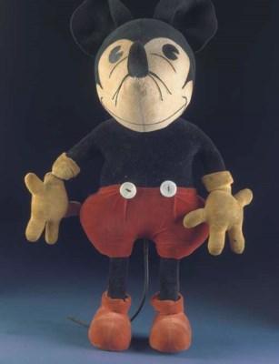 A rare large Steiff Mickey Mou