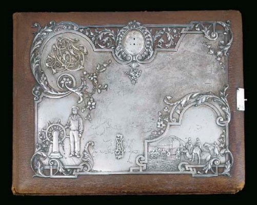 A Russian Silver-mounted Leath
