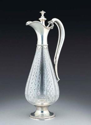 A SWISS SILVER-MOUNTED GLASS C