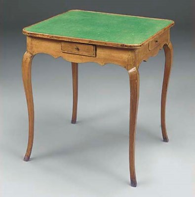 AN ITALIAN WALNUT GAMES TABLE