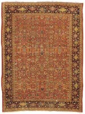An antique Ziegler carpet