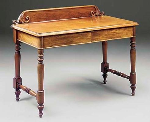 A VICTORIAN MAHOGANY SIDE TABL