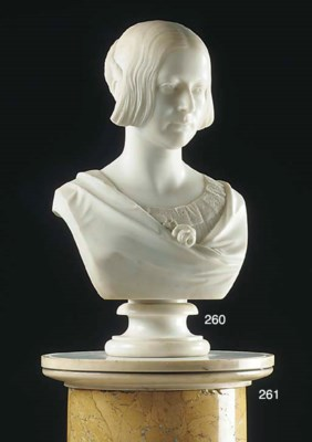 An Early Victorian sculpted ma