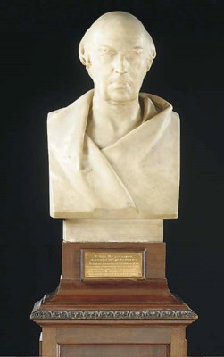 A William IV white marble bust