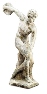 A RECONSTITUTED STONE FIGURE O