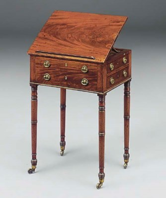An early Victorian mahogany an