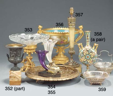 A gilt metal mounted Sevres st