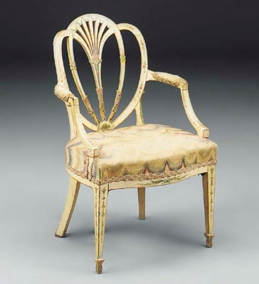 A painted armchair