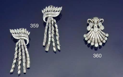 An Art Deco diamond clip