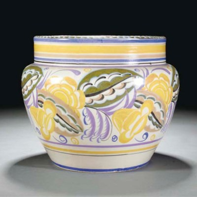 A CSA JARDINIERE PAINTED BY AN